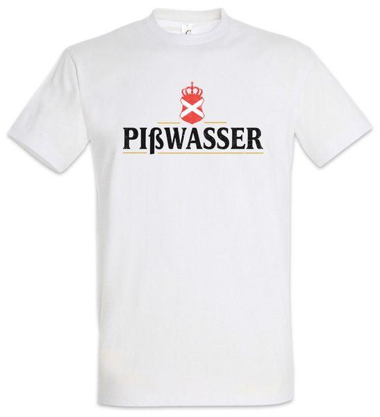 PIßWASSER пиво футболка видео игра Bier VG весело алкоголь Стаут белый мусор смешные бесплатная доставка мужская случайный