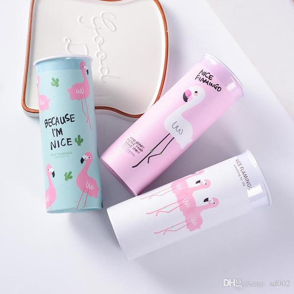 Cartoon Flamingo tessuto facciale stampa Design creativo forma rotonda Veicoli eco-compatibili carini Carino con mix colore 3 9sd jj