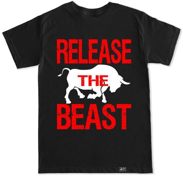 Release The Beast Gym Workout Muscle Fit Fitness Squat Lift Bench Train T Shirt T-shirt Men's Popular Custom Short Sleeve Boyfriend's 3XL