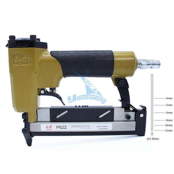 Freeshipping High Quality P622C Pneumatic Nail Gun Air Stapler Gun Tools Brad Nailer Gun