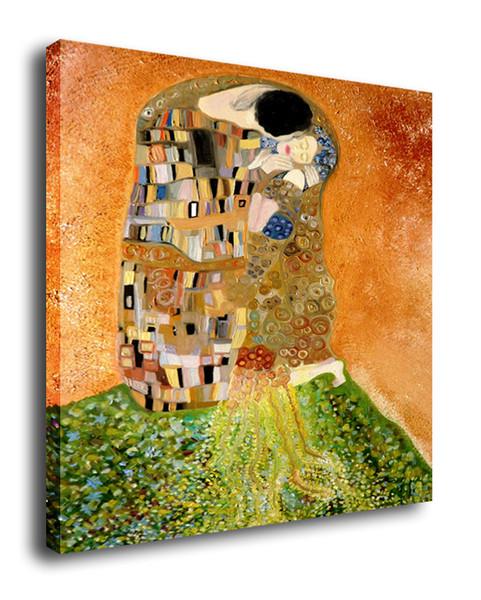 Cartoon Art Kiss ,Oil Painting Reproduction High Quality Giclee Print on Canvas Modern Home Art Decor E200