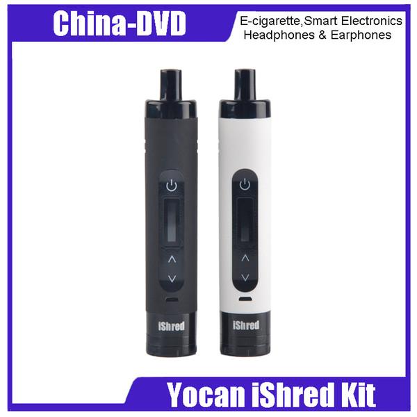 Оригинал Yocan iShred Dry Herb Vaporizer Pen Kits 2600 мАч Батарея Керамическая камера Встроенная травяная кофемолка ЖК-экран Vape Pen 2204029