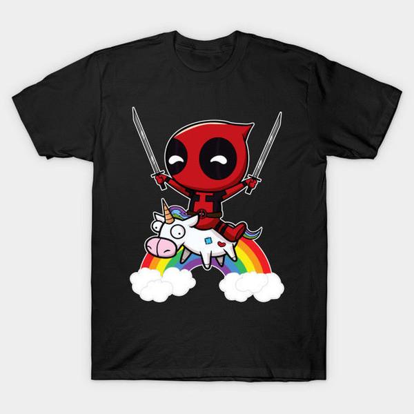 New Deadpool - Montar una camiseta infantil de Unicorn KIDs talla S-3X de descuento nueva camiseta de manga corta Plus Size Free de envío gratis