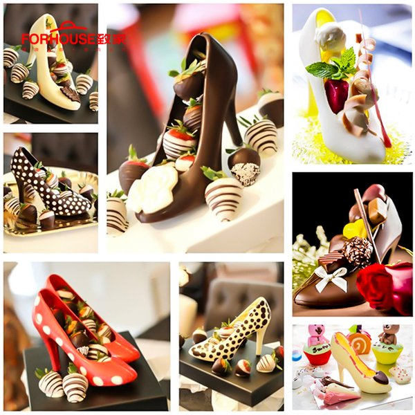 3D High Heels Shoes Mould Fondant Cake Chocolate Decoration Tools Plastic Mold DIY Baking Accessories