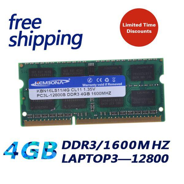 4gb 3 KEMBONA aptop Computer 1600Mzh ddr3 4GB 3L 1.35 V PC3-12800L 1.35V Memory Ram Memoria