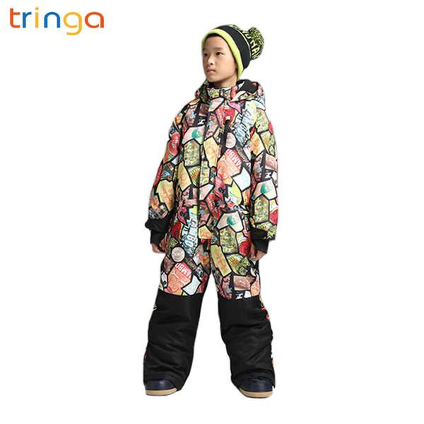 2018 Winter outdoor new children's ski suit windproof waterproof warm thickened one-piece ski suit children's outdoor sportswear