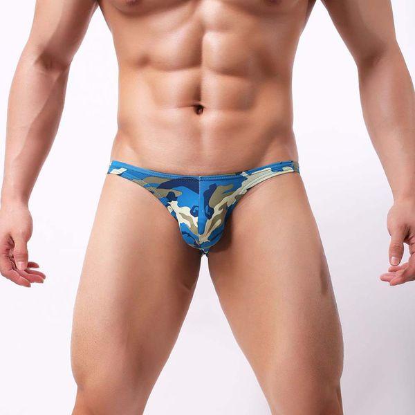 FeiTong Sexy Men Underwear Briefs 2018 U convex Big Penis Pouch Design Camouflage Men spandex Briefs for Man Bikini Hot Sale