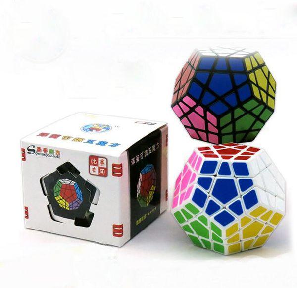 Alien Cube Shengshou Megaminx Magic Cubes Pentagon 12 Sides Gigaminx PVC Sticker Dodecahedron Toy Puzzle Twist