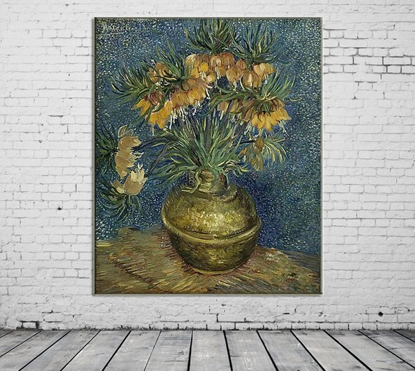 ZYXIAO Big Size Posters and Print flower yellow rose vase Oil Painting Canvas No Frame Wall Pictures for Living Room Home Decoration ys0150