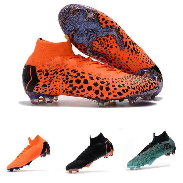 Ucuz Erkek Futbol Çizmeler Çocuklar Mercurial Superfly VI 360 Elite FG Futbol Ayakkabıları Çizmeler Ücretsiz Kargo Gençlik Kadınlar Açık Futbol Cleats