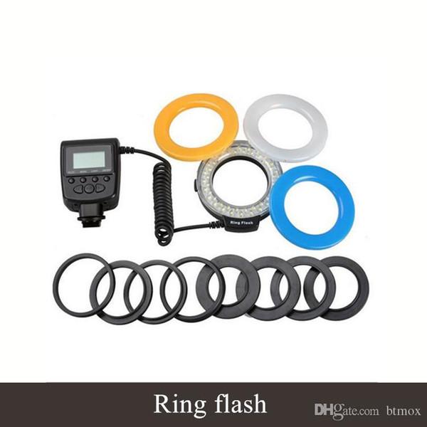 High-quality LED light Visual LCD display SLR camera ring flash macro ring flash led lamp Camera Digital SLR Cameras