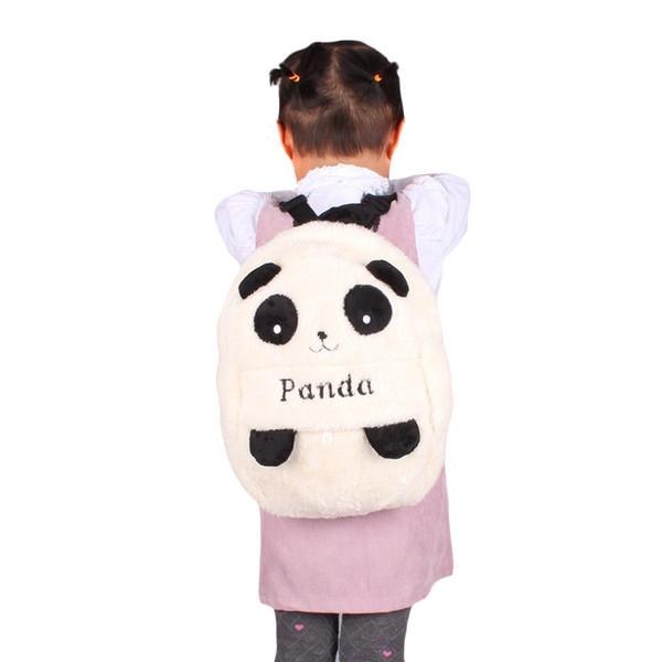 Childrens Panda Backpack Baby Plush School Bag Niño 2-4 años de edad, mochilas de dibujos animados Girls Boys Student Animal Cute Shouldbag