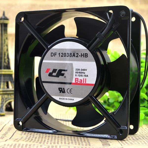 Orijinal DF 12038A2-HB için 220 V 12038 0.13A 12 CM CNC makinesi soğutma fanı