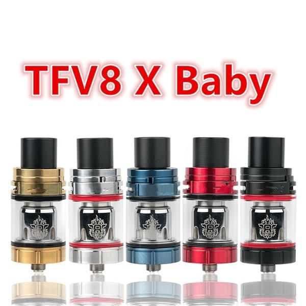 TFV8 X-Baby Tank 4 ml Sub Ohm Vape Zerstäuber Top Nachfüllen Baby Beast Bruder Tank Fit für Stock X8 T-pri Mod