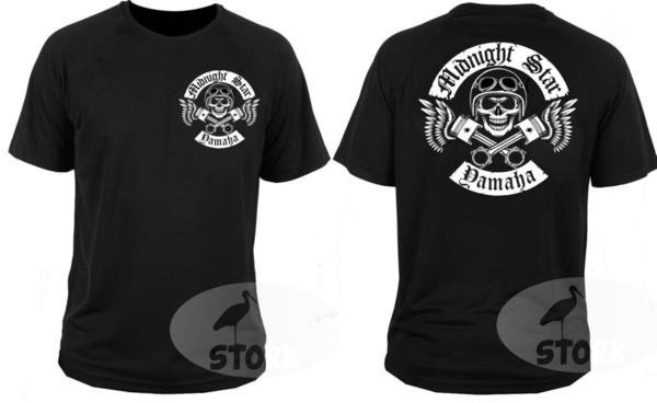 Men Clothes 2018 Yamaha Midnight Star Cruiser Chopper Motorcycle Rockers Mo T-shirt Men Boy Multi-color Short Sleeve Fashion Custom Big Size