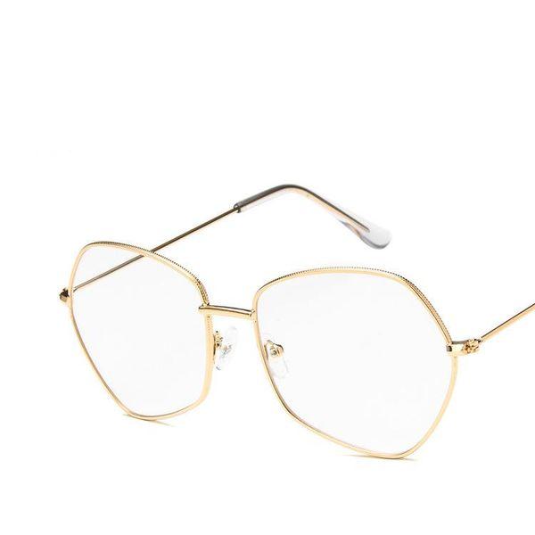 958b15c077a 2018 Fashion Eyeglass Frame Men Women Brand Optic Glasses Irregular Anti  Blue Ray Glass Eyewear Accessories Vintage Glasses Men