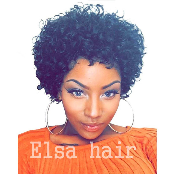 Peruvian Afro Kinky Curly None Lace Wigs 100% Human Hair Full Lace Human Hair Wigs For Black Women