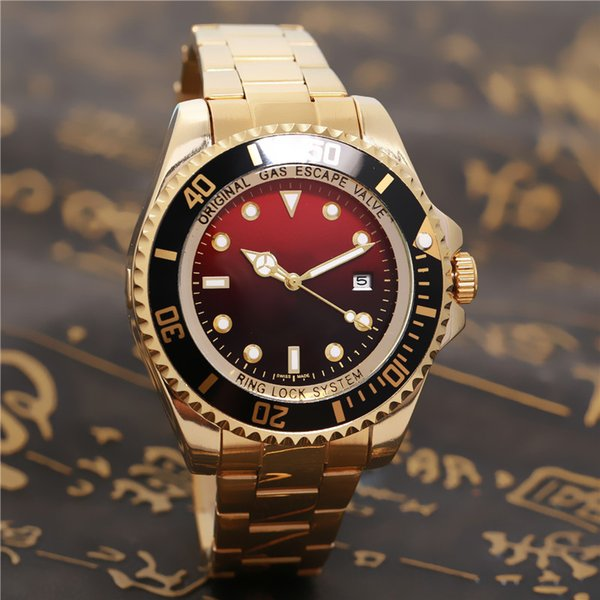 SEA-DWELLER military 44MM relogio masculino automatic date luxury fashion men and women of the steel belt movement quartz clock men watch