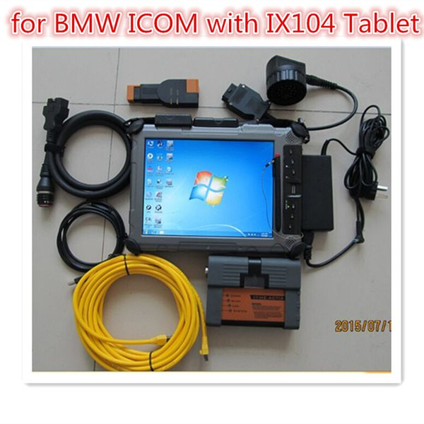 Super For bmw diagnose tool for bmw icom a2 + IX104 laptop computer 2018.07 newest version 480gb ssd expert mode ready to use