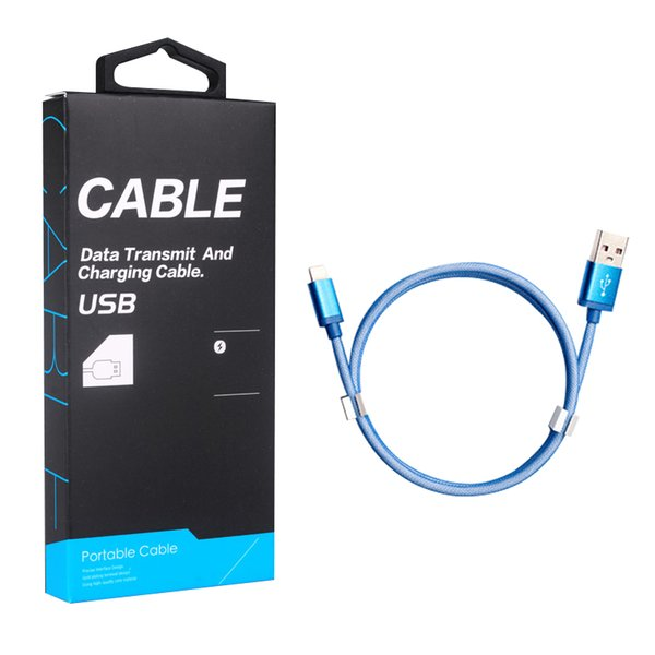 1M Micro USB Cable for Android Mobile Phone Fast Charging Data Cable Charger Line with Retail Paper Package for Type C