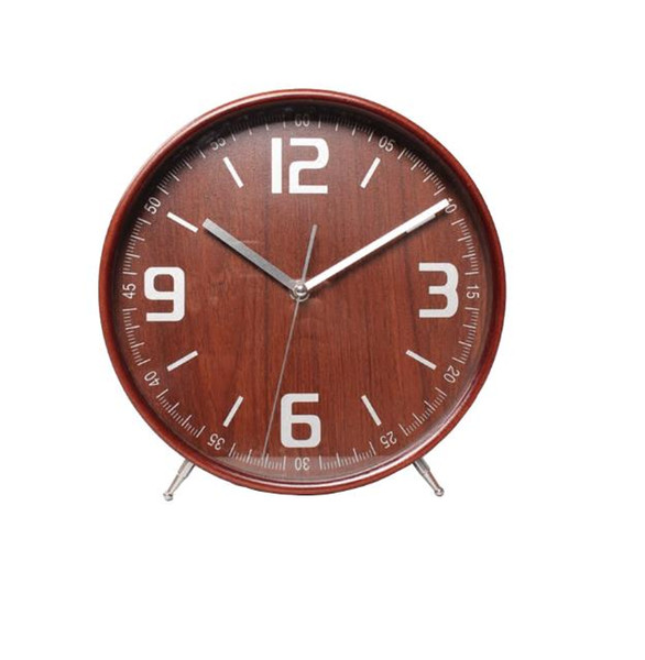 New Arrival Wooden Desk Clock Big Living Room Table Decoration Creative Gift Modern Mute Needle Alarm Clock Free Shipping