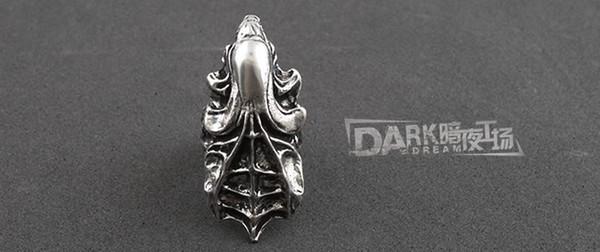 Die neuesten Elemente Mode Gothic Ring Alien Predator3 Alien Mutter Ring für Männer Großhandel Freies Verschiffen