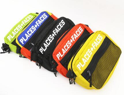 best selling Brand New Places+Faces 3M Reflective Skateboards Bag P+F Message Bags Casual Men And Women Hip-hop Shoulder Bag Mini Mobile Phone Packs