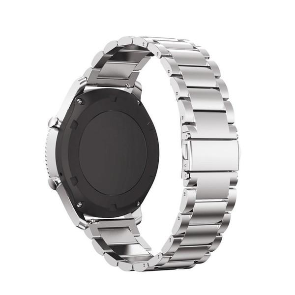 22mm Bracelet Bracelet pour Samsung Gear S3 Classique / Frontier Acier Inoxydable Bracelet Homme Bracelet Métal Argenté Noir I211.