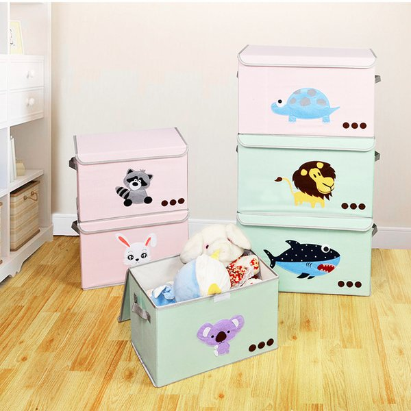 1pc Durable Lion Rabbit Household Portable Box Organizer Storage Box For Clothes Book Toy Makeup Underwear Foldable High Quality