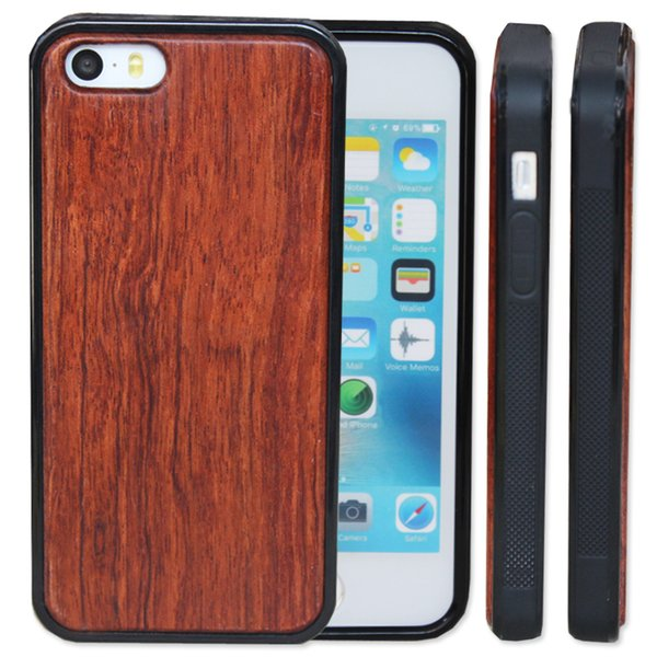 Factory Price Real Wood case For iPhone 8 7 6 6S Plus 5 5s X Bamboo Wooden Phone Case With TPU Back Cover For Samsung Galaxy S9 S8 Note8 S7