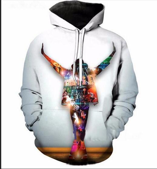 Fashion Autumn Winter Hoodies Men Women King of pop Michael Jackson 3D Print Crewneck Hoodies Casual Pockets Sweatshirt Tops GL0113