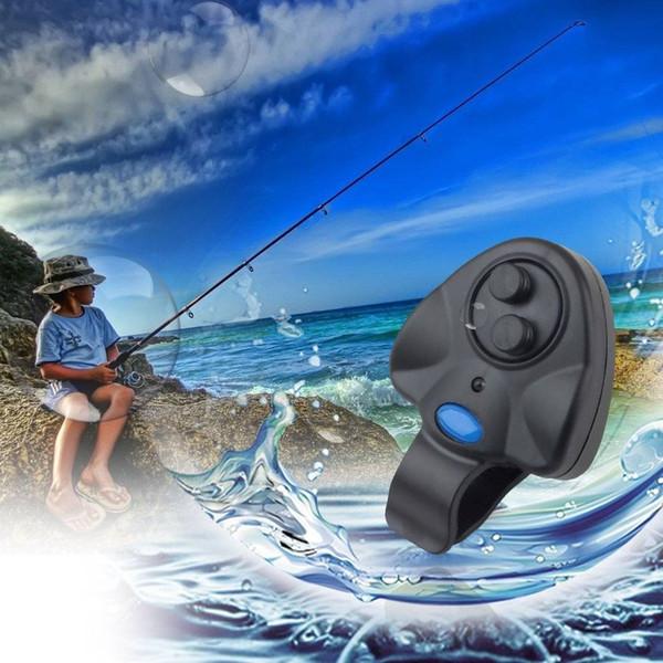 Electronic Fish Bite Sound Alarm LED Light Alert Bell Fishing Rod Clip-On LED Indicator visible for night fishing