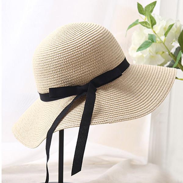 Aikoar Summer Hats for Women Fashion Design Women Beach Sun Hat Foldable Brimmed Straw Hat UV Protect Travel C