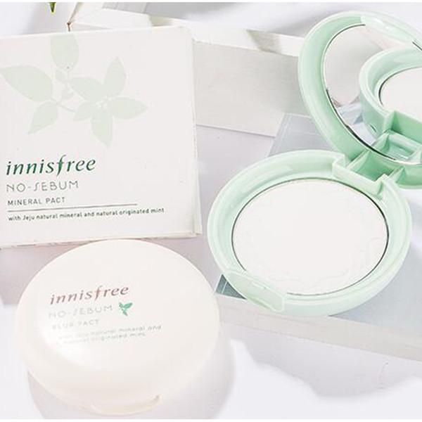 2018 Innisfree No-Sebum Blur Pact & Innisfree No-Sebum Mineral Pact Face Powder Face Makeup Korea Brand Cosmetics Free Shipping