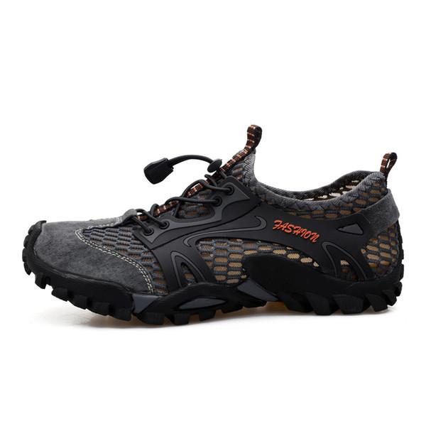 Kezrea открытый кроссовки мужская походная обувь Спорт дышащий шнуровке человек альпинизм обувь сандалии лето треккинг воды