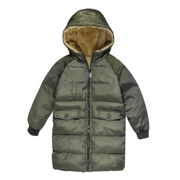 Velvet Kids Boys Winter Coat Warm Children's Long Jackets Cotton Infant overcoat Clothing Padded Jacket baby girl Clothes