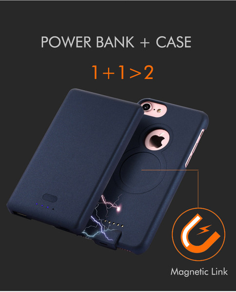 Hot Sale Backup 4000mah/5000mah External Battery Charger Case for iPhone 6/6s/7 plus charger case Backup Power Bank cover Case