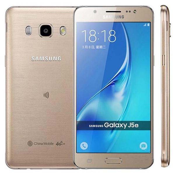 Refurbished Original Samsung Galaxy J5 2016 J510F Single SIM 5.2 inch Quad Core 2GB RAM 16GB ROM 13MP 4G LTE Smart Mobile Phone DHL 10pcs