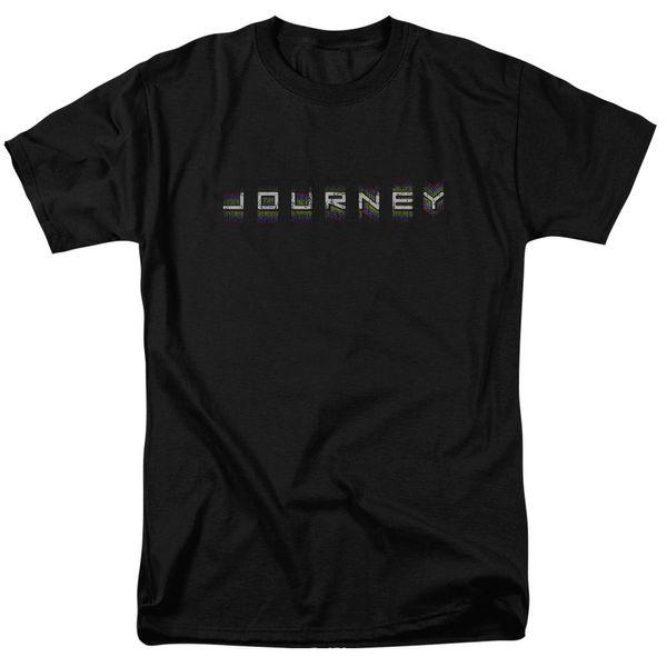Viaggio Rock Band RIPETI LOGO T-Shirt per adulti con licenza Tutte le taglie vendita gratuita estate estate Vendita calda Nuova Tee T Shirt per uomo Top
