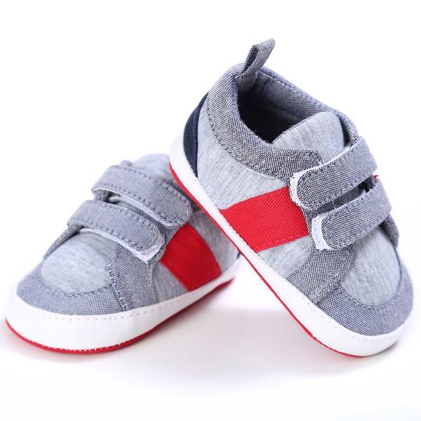 Yenidoğan Bebek Erkek Kız Toddler Ayakkabı Katı Kanvas Ayakkabılar Bebek Çocuklar Yeni Moda Kaymaz Yama Sıcak Satış Ilk Yürüyüşe