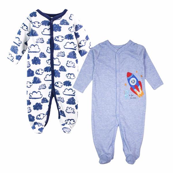 Baby-Jungen-Spielanzug-100% Baumwolle-lange Hülsen-Baby-Kleidungs-bequeme Pyjamas-neugeborene Kleidung