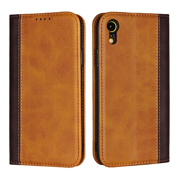 Case For iPhone XR DNGN Luxury Hit Color PU Leather Hard Back Cover capa for iPhone XR Phone case