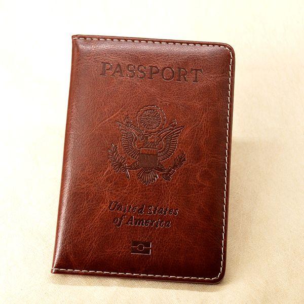 USA Passport Cover Women Pu Leather Coves For Passports Travel wallet Organizer Fashion Cute Girl case Passport Travel