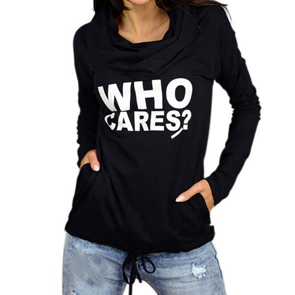 Print Letter Turtle Neck Long Sleeve Track Tops Hoodie Sweatshirt Pullover Tracksuit Tops 5XL WS5729U