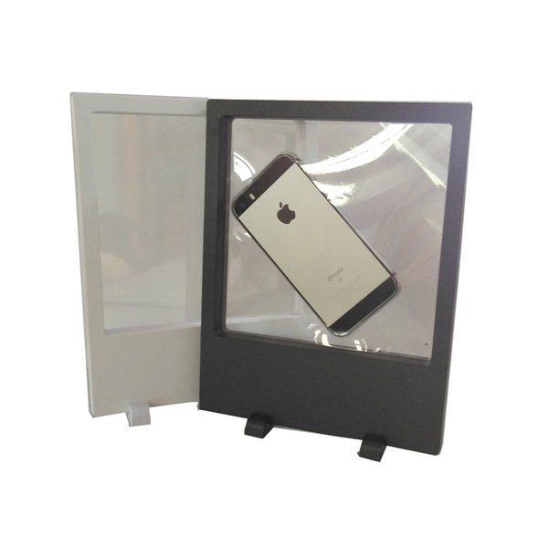 10Pcs Big Size Transparent Acrylic Jewelry Display Box PET Membrane Phone Picture Necklace 3D suspension display stand 18*23cm