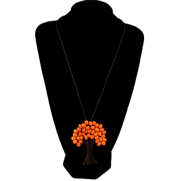 1pcs Hot Natural Beads Tree of Life Pendant Necklace Multi-Colour Wooden Fashion New Pendant Necklace high quality
