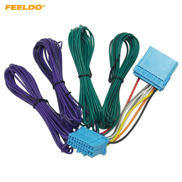 2019 FEELDO Car Stereo Radio Wire Harness Adapter For Honda Male To on speaker wire clamp, speaker wire guide, vw speaker harness, speaker wire hook, speaker wire disconnects, speaker wire pin, speaker wire cover, speaker wire spiral, speaker wire clip, speaker wire kit, speaker wire switch, speaker wire tube, speaker wire cable, speaker wire plug, speaker wire coil, speaker wire accessories, speaker wire relay, speaker wire control, speaker wire lights, speaker wire tools,