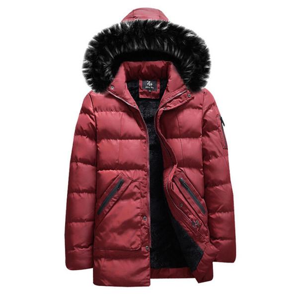 New Brand Men Winter Jacket Thick Thermal Down Cotton Parkas Male Casual Hoodies Faux Fur Collar Warm Coats M L XL XXL XXXL