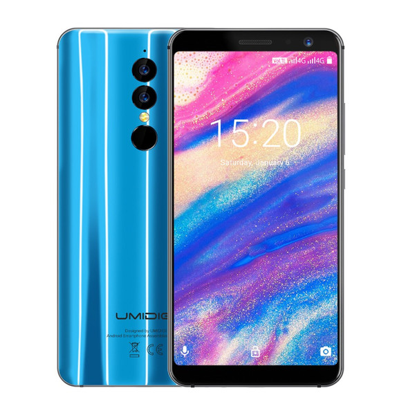Umidigi A1 Pro 5.5' 18:9 Full Screen 3GB RAM 16GB ROM Mobile phone MT6739 Android 8.1 Face ID Dual Back Camera 4G LTE Cell phone