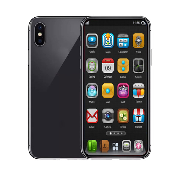 Goophone xs max 1GBRAM 4GBROM MTK6580 Quad Core 6.5inch 5MP 3G WCDMA Sealed Box Fake 4G LTE displayed Dual SIM Smart Phone